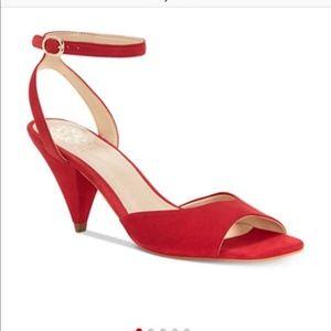 NWB Red Heeled Sandal | Vince Camuto